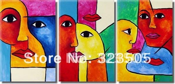 Online kopen wholesale face portraits art uit china face portraits art groothandel - Koffiebar decoratie ...