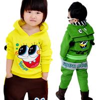 Children's clothing child winter 2012 set small male female child thickening fleece sweatshirt twinset