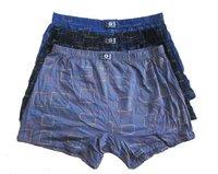plus size male panties loose 100% cotton trousers u bag mid waist breathable fat pants L / XL / XXL / 4XL / 5XL Free shipping