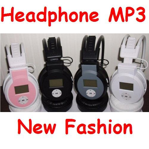 Wireless Earphone MP3 Player Headset headphone HI-FI MP3 Players UP to 8GB SD Card USB Cable 5 Pieces/Lot M-068(China (Mainland))
