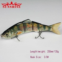 Free shipping fishing lures hard lures fishing hook sea water and fresh water ODS-ODS-BIAN-B 135g 255mm