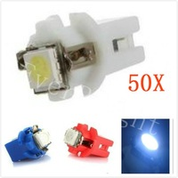 New!!! 50 PCS B 8.5 wedge light bulbBright 1SMD-5050 B8.5 LED car  Instrument Light white color