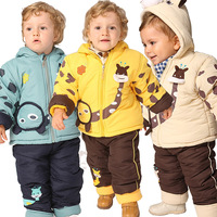 Winter baby clothes children's clothing thickening child cotton-padded jacket openable-crotch trousers wadded jacket set