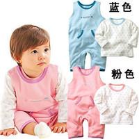 2012 spring and autumn twinset baby 100% cotton bodysuit bib pants long-sleeve T-shirt set autumn new arrival