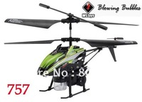 Wltoys V757 3.5Channel IR Remote Control Heli Blowing Bubbles Gyro RC Helicopter