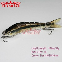Free shipping 5pcs/lot fishing lures hard lures fishing hook sea water and fresh water ODS-D83 30g 142mm