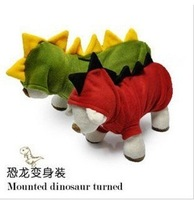 Free shipping New fashion winter warm dinosaur Shape-shift Clothing clothes for dog cat pet #H0053