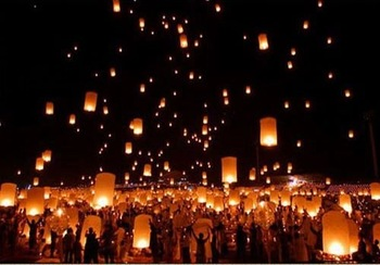 30 PCS Sky Lanterns Whishing Lantern Sky Fire Chinese Lanterns Lights For Birthday Wedding Party Kongming Flying Wishing Lamp