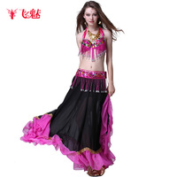 Belly dance costume set quality set bra cummerbund skirt