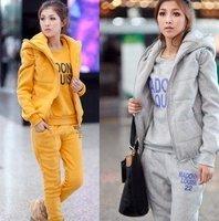 Free Shipping New arrival Women winter warm Sport Suit lady Coat+Pants+jumper 3 pcs Set Lady Casual Sports Wear