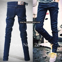 free shipping 2012 male pants slim pencil pants skinny jeans non-mainstream men's clothing pants blue