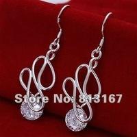 LQ-E202 Free Shipping 925 silver fashion jewelry earring 925 silver earrings wholesale akta jcaa rtja