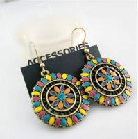 Lose Money Promotion,High Quality/Vintage/Chic/Round/Lady Earrings Free Shipping