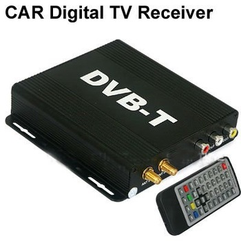 Car Mobile DVB-T Digital TV Receiver Box MPEG-2/MPEG-4/H.264 w IR Sensor