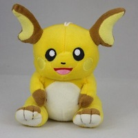 "High Quality Raichu Pokemon 6 "" Pikachu Soft Stuffed Plush Toy Doll"