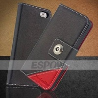 Sophisticated Color-blocking Two-tone Covert Leather Case for iPhone 5