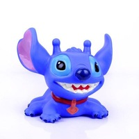 "New Cute Lilo Stitch Coin Piggy Money Bank Figure 4 5"" Blue"
