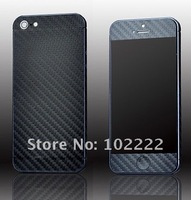 New Carbon Fiber Full Body Sticker Cover for iPhone 5 5G,  1000pcs/lot, Free Shipping