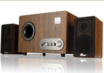 Three's speakers LA - 6900 w computer multimedia 2.1 sound all woodiness card