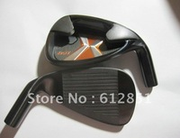 1 Set Right Hand X-24 HOT golf iron set (3-9,P,S  9pcs full set) with R/S Steel shaft and free headcover freeshipping