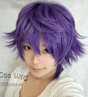 Shiki   Short Dark Purple   Hair Party Wig  Full Copsly Costume Wigs