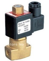 "Free Shipping 1/8"" Brass Electric Solenoid Valve Normally Open 2W025-06-NO DC12V,DC24V,AC110V or AC220V"