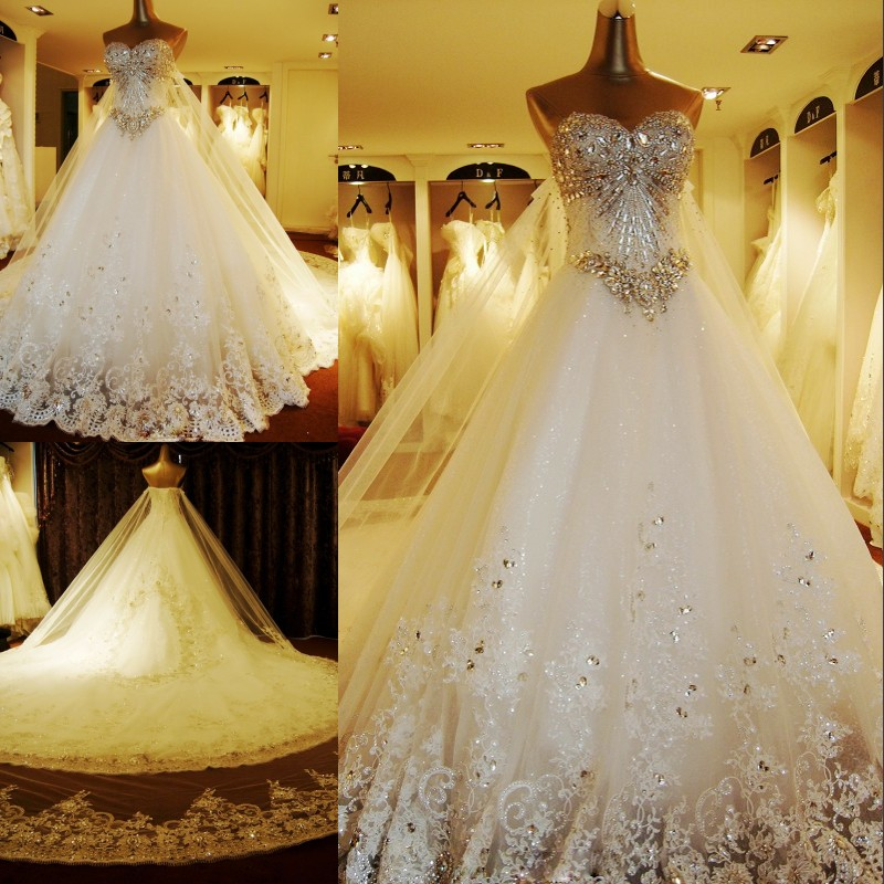 Big Wedding Dresses With Long Trains ImagesJordanisadore
