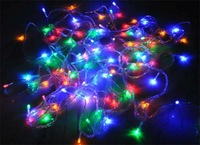 Colorful 100 LED String Light 10M 220V/110V Decoration Xmax Lights for Christmas Party Wedding  Free Shipping