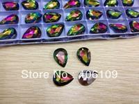 10 мм кристалл rivoli бусины Аквамарин цвет Риволи, Риволи кристалл Серебряный тени камни
