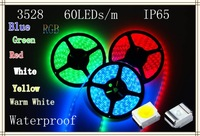 waterproof white/blue/green/yellow/red/RGB LED Strip light 5M 500cm 60leds/M 300leds 300 SMD 3528+ FREE SHIPPING