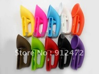 300pcs/lot Multi-color Silicon Horn Stand Mobile Phone Amplifier Speaker for iphone 5, dhl free shipping