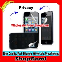 Hot Selling For iphone5 Privacy Screen Protector Guard Film  with packing10pcs/lot Free Shipping