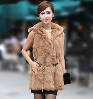 Luxury Winter Warm Rabbit Fur Vest/ Waistcoat/ Gilet for Women, Large Size,5 colors