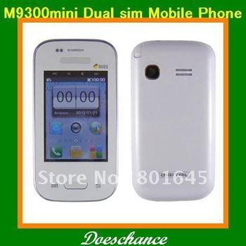 M9300 mini 2.6''touch screen  dual sim camera multi menu styles loud cell phone