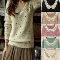 Free shipping/2013 princess sweet  peter pan collar  loose sweater outerwear,S-809