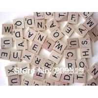 Wooden Scrabble Jewelry Pendant Tiles Rectangle 18.5mm x 20.5mm (100 Tiles)