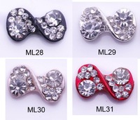 New 20pcs/Lot  3D Alloy Rhinestones Bowtie Bow Tie Nail Art Decorations  Nail alloy