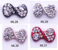 free shipping New 20pcs/Lot  3D nail art decorations Alloy Rhinestones Bowtie Bow Tie Nail Art Decorations  Nail alloy