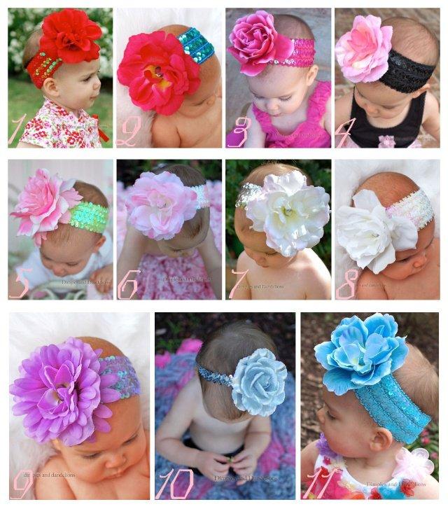Цветы из ткани на голову