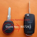 VW Jetta 2 button flip remote key with left blade
