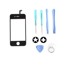Drop Shipping Black Replacement LCD Touch Screen & Opening Tools for iPhone 4 Free Shipping