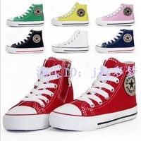 2012  WARRIOR kids children shoes boy's girl's High help canvas shoes  sport casual shoes  seven  color  23-35