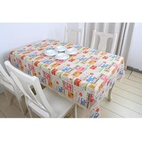 free shipping home decor cotton 140*220cm cartoon American pie style event table linens lace tablecloth table cover