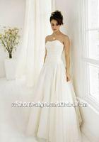 hot sale elegant strapless A-line chiffon wedding dress