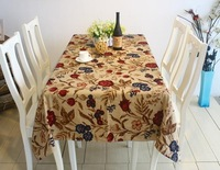 free shipping 1pc 100% cotton 90*90cm floral romatic Paris style event table linens tablecloth