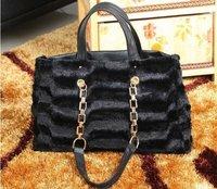 2014 autumn & winter classic plush mobile chain bag simple the generous leisure Korean bags handbags wholesale Free shipping