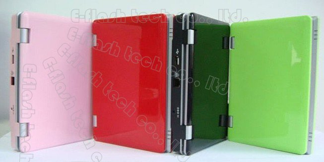 Freeshipping by DHL (1pcs/lot) 7 inch EPC mini laptop Android OS Netbook PC VIA8650 wifi 256MB/4GB DDRII more 20 languages(China (Mainland))
