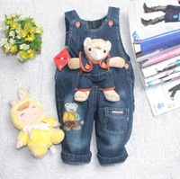 free shipping 2012,pandaA jeans Wholesaler  hot new hot sale children's overalls/0~3 age baby girls' boy's autum&winter trousers