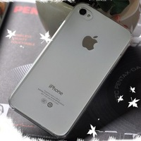 Wholesales Hard Plastic Clear Crystal Transparent Back Cover Cases for iPhone 4G & iPhone 4S, 50pcs/Lot Free Shipping