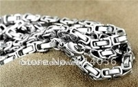 FREE SHIPPING Hot Sale Stainless steel cool  men prevalent  byzatine chain silvery length 61cm width 9mm wholesale and retail